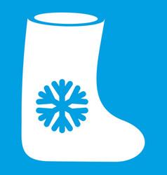 Felt boots icon white vector