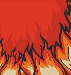 fire flames background vector image