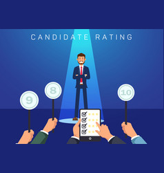 Flat banner candidate rating vector