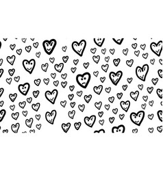 fun hearts seamless pattern vector image