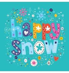Happy snow vector
