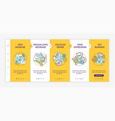 Healthy dieting effects onboarding template vector