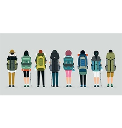 Hiking bag vector