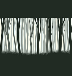 horizontal with many trunks tree vector image