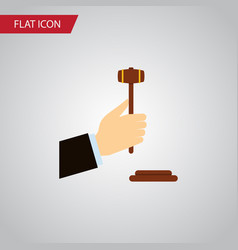Isolated legal flat icon law element can vector