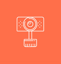 Isolated webcam icon web camera line icon for vector