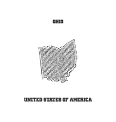 Label with map of ohio vector image