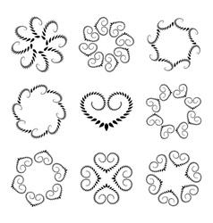 Laurel wreath tattoo set Wheats with heart vector image