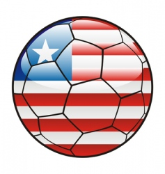 Liberia flag on soccer ball vector