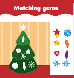 Matching children educational game match by shape vector