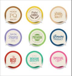 Modern bubble speech sticker collection vector