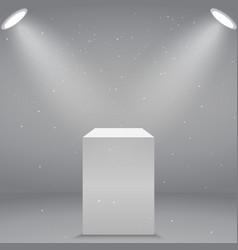 Museum pedestal vector