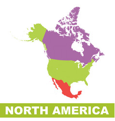 north america map icon flat north america sign vector image