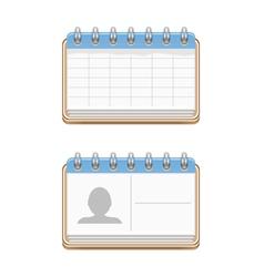 Notepads vector