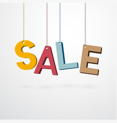pastel sale sign hanging on a thread vector image