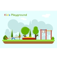 Playground background vector image
