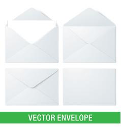 realistic envelope mockups vector image