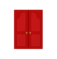 red door on white background vector image
