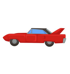 Retro sport vehicle 1970s muscle car isolated vector