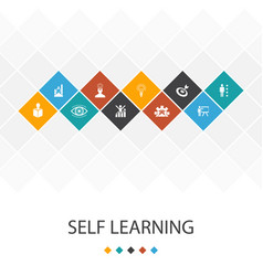 Self learning trendy ui template infographics vector