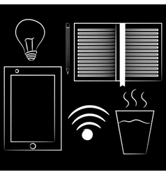 Set of variety brainstorming elements Isolated on vector image