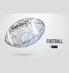 silhouette of a footballl ball vector image