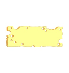 Slab of cheese vector