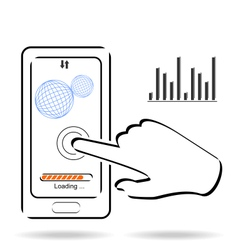 Smart phone touchscreen application and mobile vector