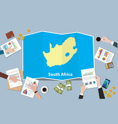South africa economy country growth nation team vector