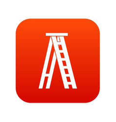 Stepladder icon digital red vector