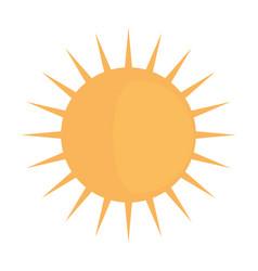 Sun shinning symbol vector