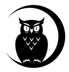 Symbol owl vector