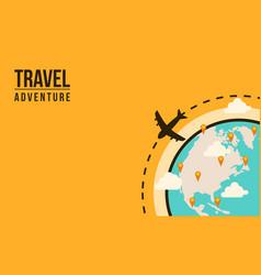 Travel adventure the world concept vector