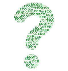 Unknown figure of eco text icons vector