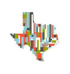 usa texas state pixelated abstract map vector image
