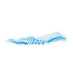 water wave design consisting points and lines vector image