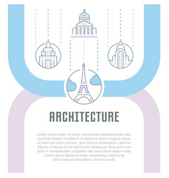 website banner and landing page architecture vector image