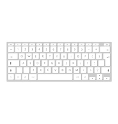 White mobile computer keyboard keypad vector