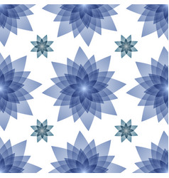 winter blue abstract flowers vector image