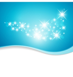blue background with stars vector image vector image