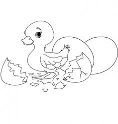 Easter surprise coloring page vector image vector image
