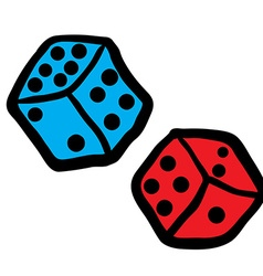 Freehand drawn dices vector