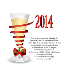 holiday background with one glass of champagne vector image