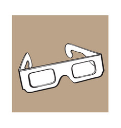 stereoscopic 3d glasses in black plastic frame vector image vector image