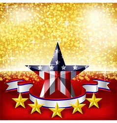 American Independence Day background flag on stage vector image vector image