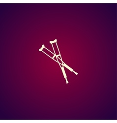 Crutches icon Modern design flat style vector image vector image