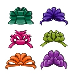 Cute cartoon bows vector image