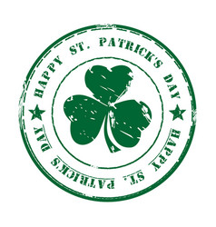 green grunge rubber stamp happy st patricks day vector image vector image