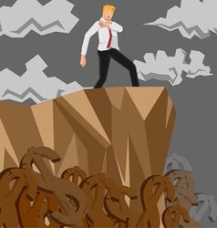 man money cliff vector image vector image