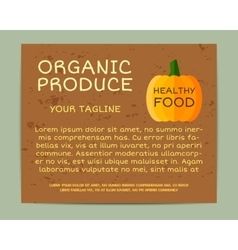 Organic farm corporate identity design with vector